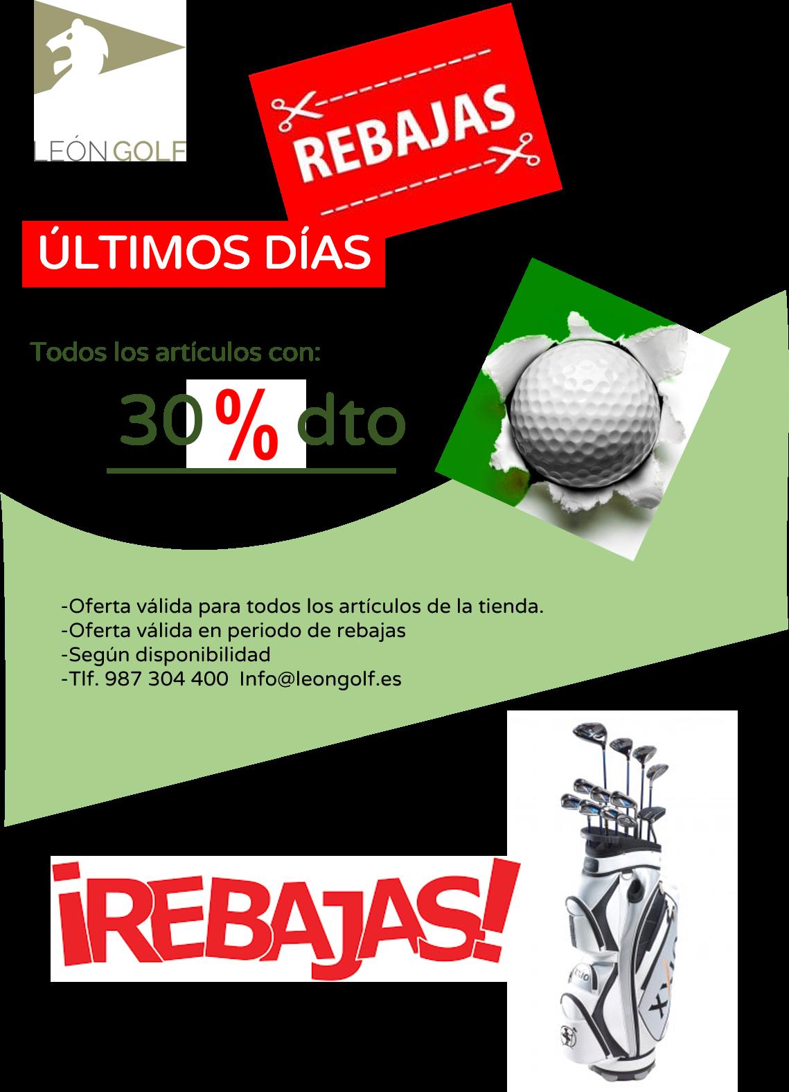 30% DE DESCUENTO EN TODO EL MATERIAL DE TIENDA